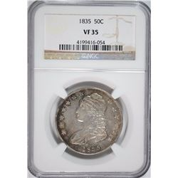 1835 BUST HALF NGC VF-35 LOOKS FULLY XF