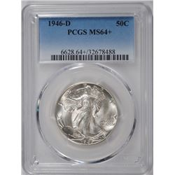 1946-D WALKING LIBERTY HALF DOLLAR, PCGS MS-64+