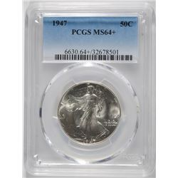 1947 WALKING LIBERTY HALF DOLLAR, PCGS  MS-64+