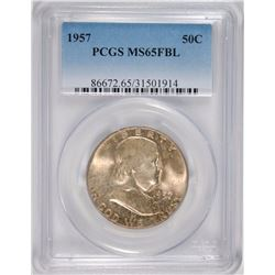 1957 FRANKLIN HALF PCGS MS-65 FBL