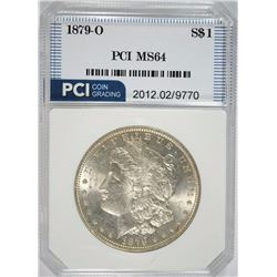 1879-O MORGAN SILVER DOLLAR, PCI GEM BU