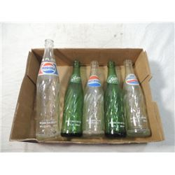 ANTIQUE VINTAGE SODA BOTTLE LOT PEPSI SLICE
