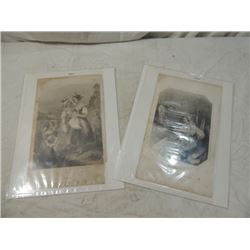 LOT 3 ENGRAVINGS LITHOGRAPHS ANTIQUE VINTAGE PRINT