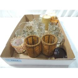 BOX LOT ELEGANT CANDLE HOLDERS CONTEMPORARY