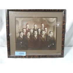 ANTIQUE BLACK WHITE PHOTO FRAMED SCHOOL GRADUATION