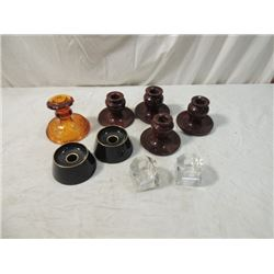 LOT 9 CANDLE HOLDERS CRYSTAL DEPRESSION MORE