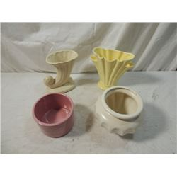 LOT 4 POTTERY SHAWNEE MCCOY? VINTAGE