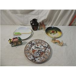 ASIAN LOT CHINA JAPAN COLLECTIBLES POTTERY PAINTED