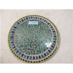 LOT TWO MOSAIC SERVING DISPLAY TRAYS AS SHOWN
