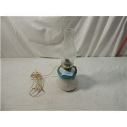 VINTAGE KEROSENE OIL LAMP CONVERTED TO ELECTRIC