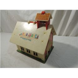 FISHER PRICE PLAY FAMILY SCHOOL HOUSE VINTAGE