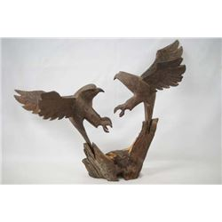 Vintage Carved Ironwood Eagles