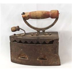 Antique 1900 Coal Burning Iron