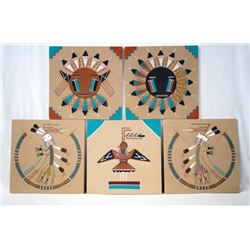 Collection of 5 Navajo Sand Paintings