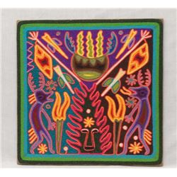 Original Huichol Yarn Painting, Benitez & Cruz