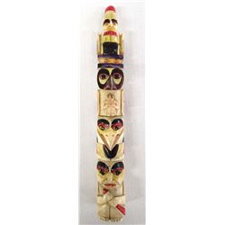 Vintage Carved Bone Totem Pole