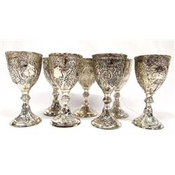 7 Corbell & Co. Silver Plated Cordial Cups