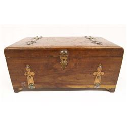 Vintage Cedar Wood Keepsake Box, Copper Hardware