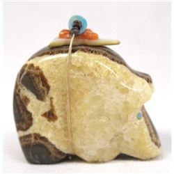 Zuni Carved Septarian Nodule Bear Fetish