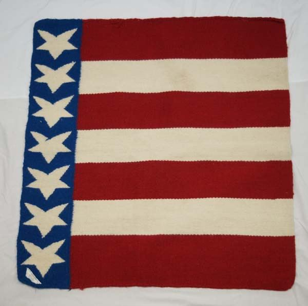 Mayatex Red White And Blue Stars And Stripes Rug