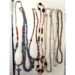 7 Assorted Necklaces, Some Native American
