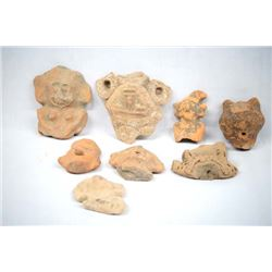 Authentic PreColumbian Pottery Heads