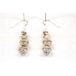 Native American Navajo Sterling Bead Earrings