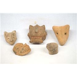 Authentic PreColumbian Pottery Fetishes