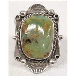 Native American Navajo Sterling Turquoise Ring, 11