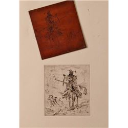 Unknown Artist, Etching and Metal Plate,