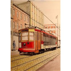 B.H. Sennstrom, Original Illustration, Streetcar,