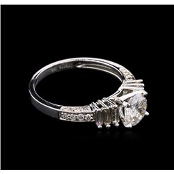 1.37ctw Diamond Ring - 18KT White Gold