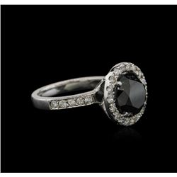 4.22ctw Black Diamond Ring - 14KT White Gold