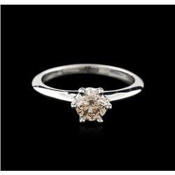14KT White Gold 0.70ct Round Cut Fancy Brown Diamond Solitaire Ring