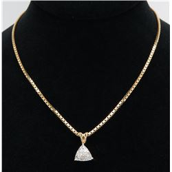 1.10ct Diamond Pendant - 14KT Yellow Gold