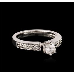 14KT White Gold 0.69ctw Diamond Ring