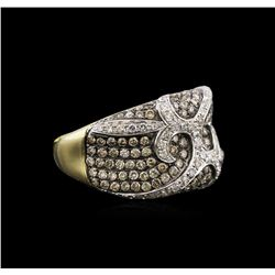 1.90ctw Fancy Brown Diamond Ring - 14KT Yellow Gold