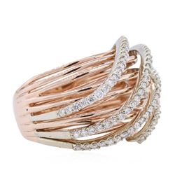 14KT Rose Gold 0.64ctw Diamond Ring
