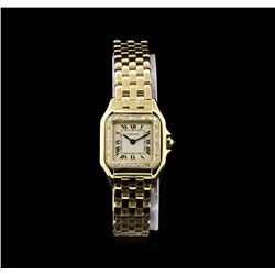 Cartier 18KT Yellow Gold Diamond Panthere Ladies Watch