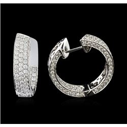 2.86ctw Diamond Earrings - 18KT White Gold