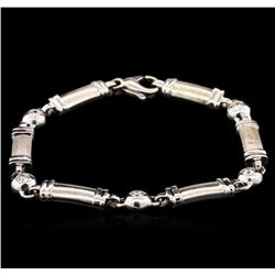 0.70ctw Diamond Bracelet - 14KT White Gold