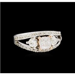 14KT White Gold 1.61ctw Diamond Ring