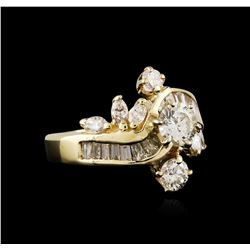 14KT Yellow Gold 2.06ctw Diamond Ring