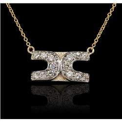 14KT Yellow Gold 0.50ctw Diamond Necklace