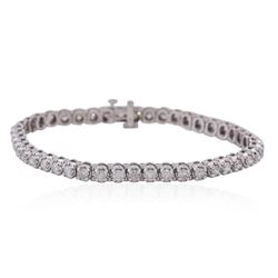 14KT White Gold 3.24ctw Diamond Tennis Bracelet