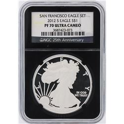 2012-S NGC Graded PF70 Ultra Cameo $1 American Silver Eagle Silver Coin