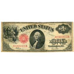 1917 $1 Saw-Horse Legal Tender Bank Note