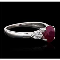 14KT White Gold 1.32ct Ruby and Diamond Ring