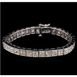 26.35ctw Diamond Tennis Bracelet - 14KT White Gold
