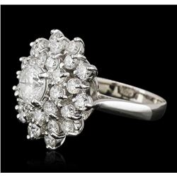 14KT White Gold 2.64ctw Diamond Ring